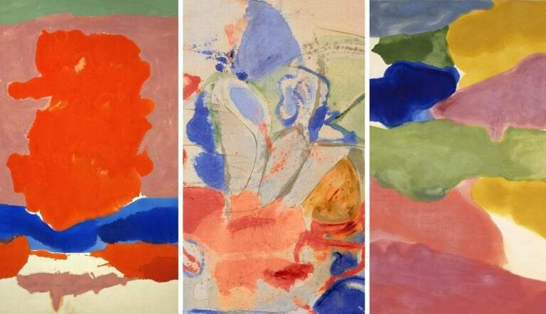 helen frankenthaler soak stain color field paintings