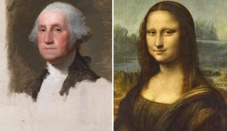 mona lisa george washington unfinished famous artworks