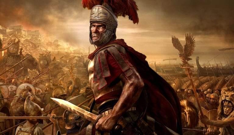 roman battle scene digital illustration