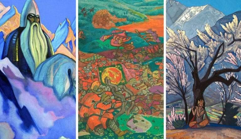 shangri la paintings by nicholas roerich