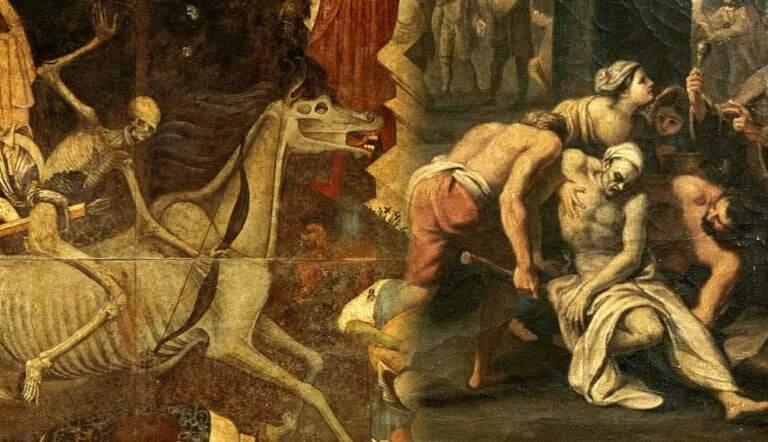 triumph death fresco and plague rome black death