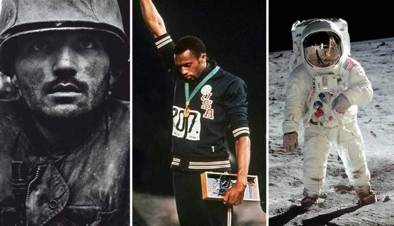 documentary photographs shellshocked marine black salute man moon