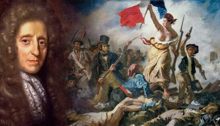 John locke philosopher liberty leading people delacroix