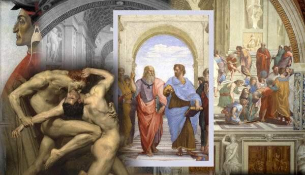dantes inferno school of athens raphael intellectuals limbo