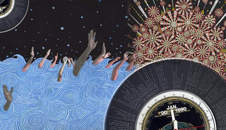 fred tomaselli collages