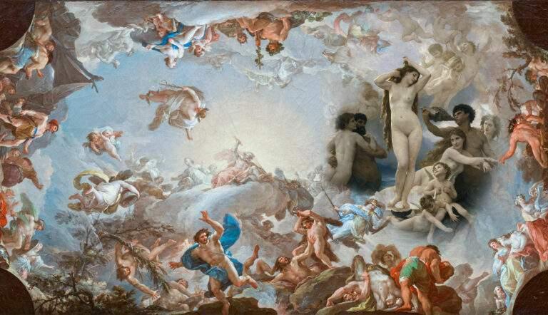 greek creation myths birth of venus battle giants