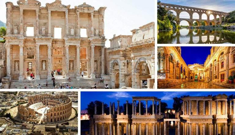 impressive roman monuments outside italy
