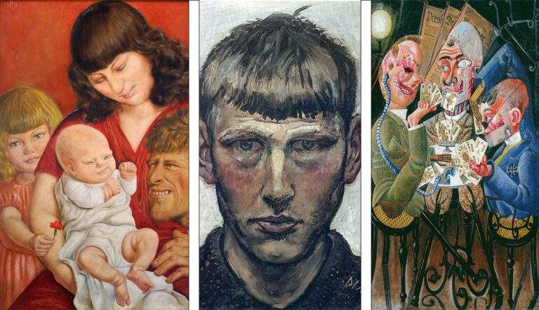 otto dix artist paintings family portrait card players