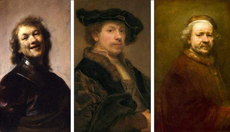 rembrandt self portrait young old