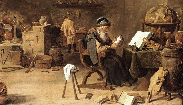 spiritual alchemy david teniers alchemist painting occult