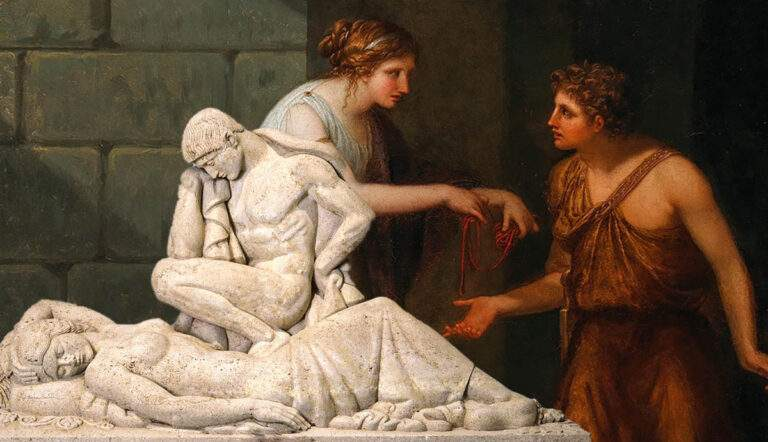 theseus ariadne tomb and string