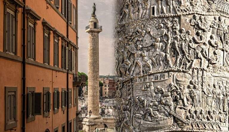trajans column ancient roman movie carved marble