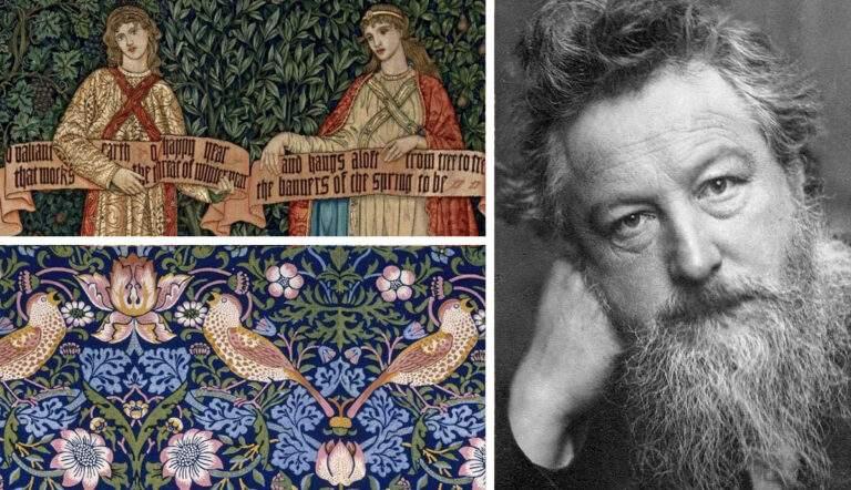 william morris floral tapestry arts craft movement