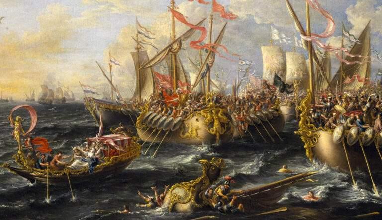 battle of actium ptolemaic egypt painting