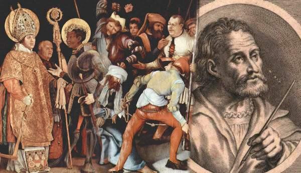 matthias grunewald portrait meeting saint erasmus maurice