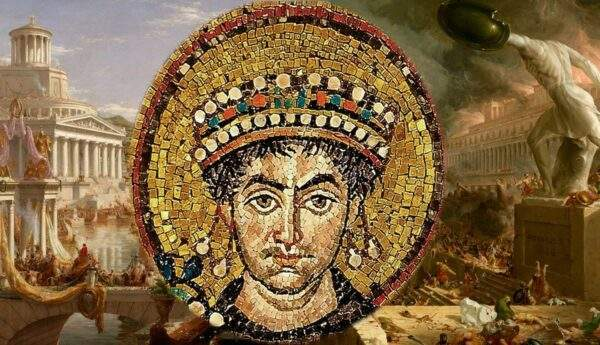 mosaic emperor justinian consummation destruction empire