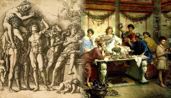 paintings roman feast bompiani bacchana mantegna