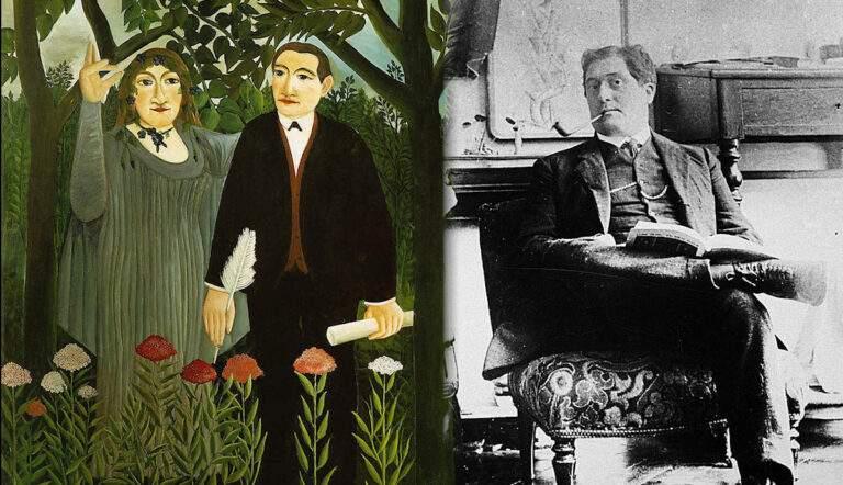 portrait guillaume apollinaire muse poet henry rousseau