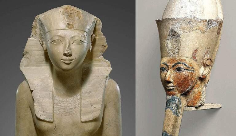 queen hatshepsut statue osiride figure pharaoh
