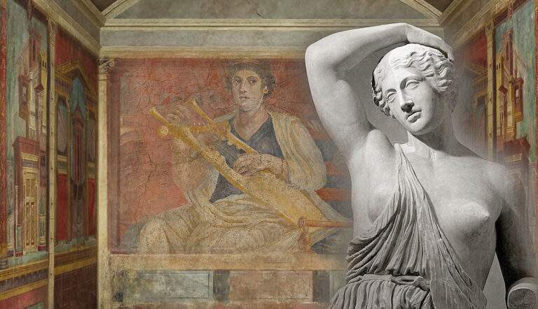 roman wall painting and bust amazon