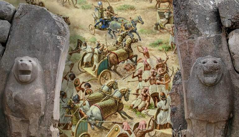 who were the hittites battle kadesh liongate hattusa