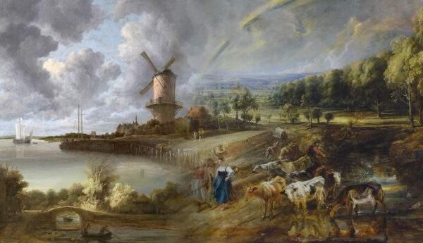 Dutch landscape paintings painters 17th century