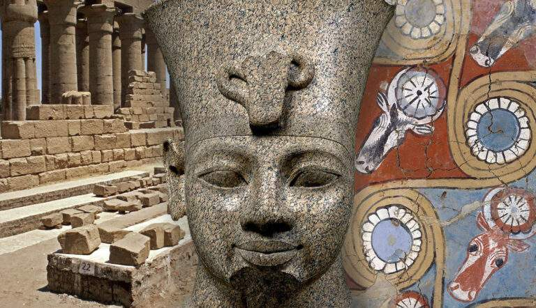 amenhotep head egypt luxor temple malkata palace ceiling