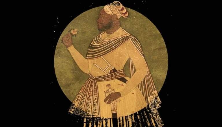portrait of malik ambar holding a rose